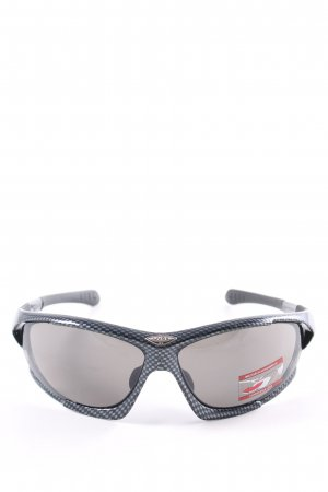 Uvex Angular Shaped Sunglasses black-silver-colored check pattern athletic style