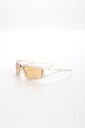 Uvex eckige Sonnenbrille silberfarben-hellorange sportlicher Stil