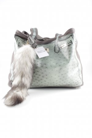 V°73 Tote grey brown-pale green placed print casual look