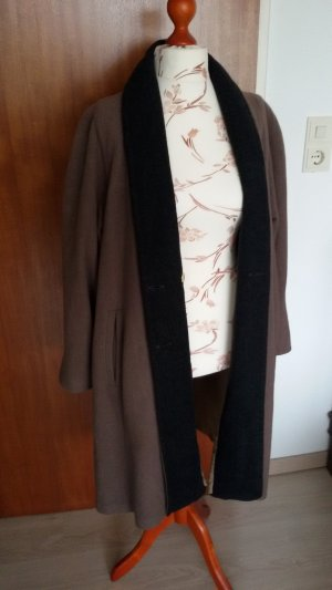 Cappotto in lana marrone-antracite