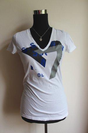 V-Auschnitt T-Shirt mit Print