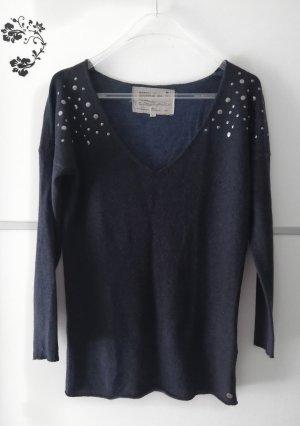 Garcia Jeans Oversized trui zilver-donkerblauw