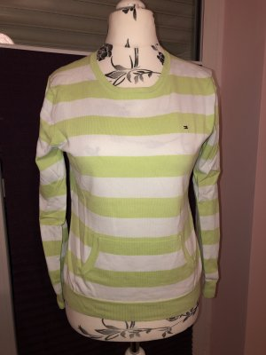 Tommy Hilfiger V-Neck Sweater white-meadow green