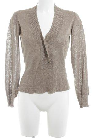 V-Ausschnitt-Pullover beige Casual-Look