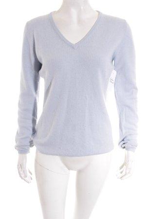 V-Ausschnitt-Pullover hellblau Casual-Look