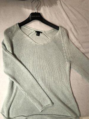V-Ausschnitt Pullover in Mintgrün