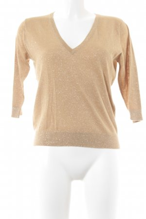 V-Neck Sweater sand brown casual look