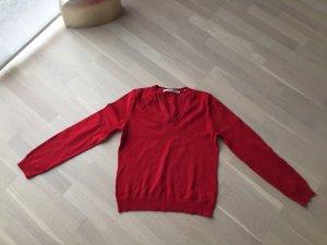 V-Ausschnitt Pullover Tommy Hilfiger rot