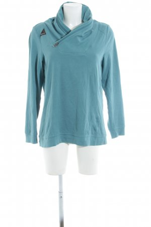 V-Ausschnitt-Pullover türkis Casual-Look