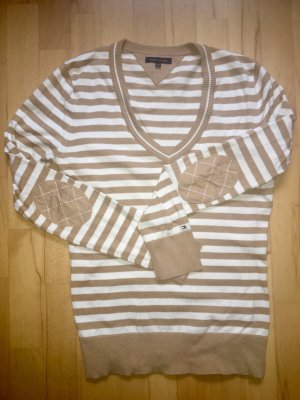 Tommy Hilfiger V-Neck Sweater beige-white