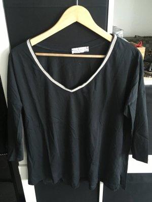 V-Ausschnitt Shirt 3/4 ärmlig 36/38 schwarz bee_Tween