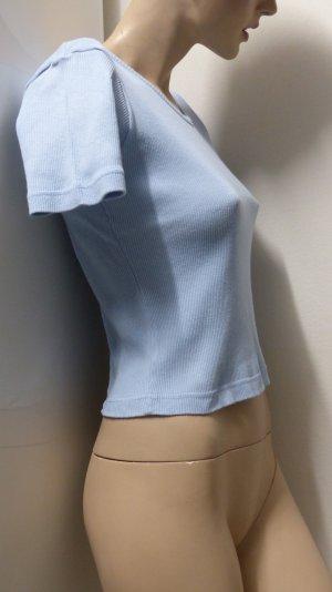 V-hals shirt azuur