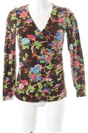 V-Ausschnitt-Shirt florales Muster Street-Fashion-Look