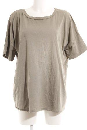 V-Ausschnitt-Shirt grüngrau Casual-Look