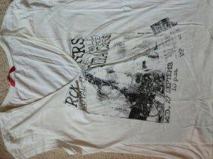 V-Ausschnitt Shirt mit Print