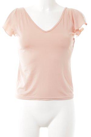 V-Ausschnitt-Shirt rosé Casual-Look