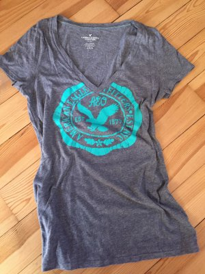 American Eagle Outfitters T-shirt grijs-turkoois