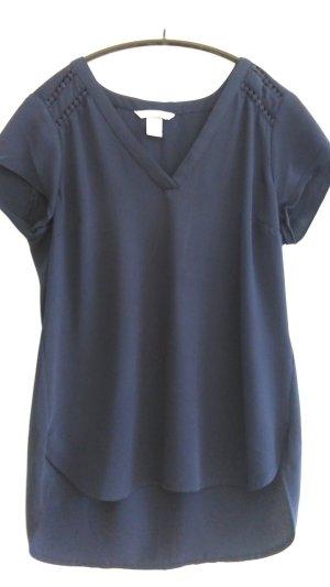 V-Ausschnitt T-Shirt mit Lochmuster