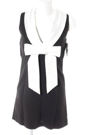 V by Very Kurzarmkleid schwarz-weiß Elegant