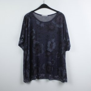 V.CLOTHING Tunika Gr: S/M blau geblümt