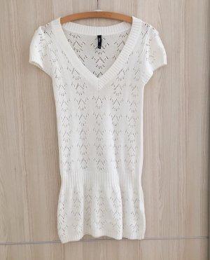 Flame Short Sleeve Knitted Jacket white