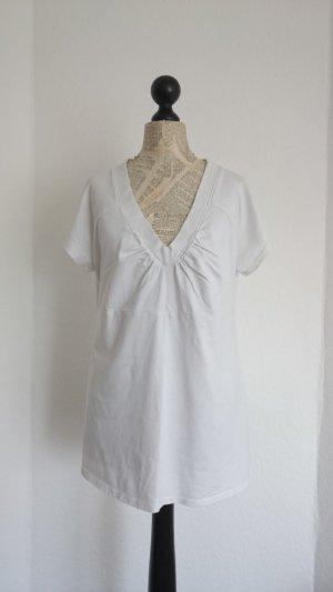 H&M Camisa con cuello V blanco Algodón