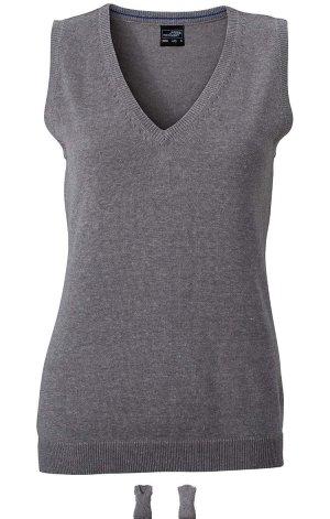 James & Nicholson Fine Knitted Cardigan grey