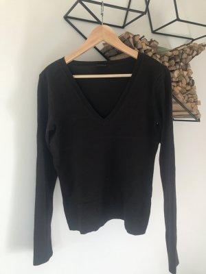 V-Pullover Basic, dunkelbraun