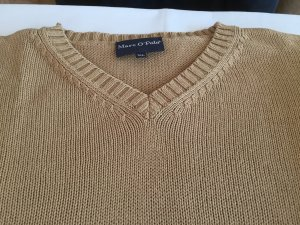 Marc O'Polo V-Neck Sweater light brown-sand brown