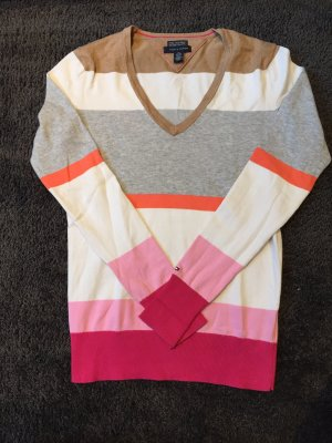 V-Pullover Tommy Hilfiger | gestreift