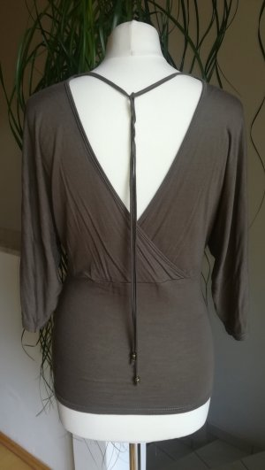 Colours of the World V-Neck Shirt grey brown viscose