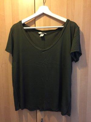 V-Shirt von H&M, Khaki