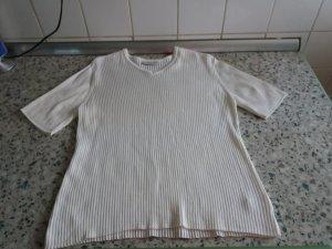 Sweater met korte mouwen wolwit-wit Viscose
