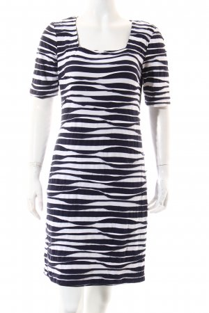 Va bene Kleid dunkelblau-weiß Streifenmuster Casual-Look