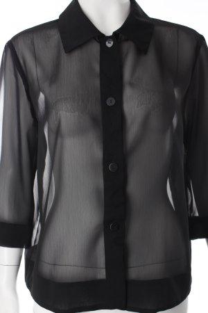 Va bene Transparenz-Bluse schwarz