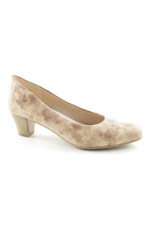 Va bene Loafers beige-cream floral pattern shimmery