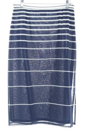 Va bene Ensemble tissé blanc-bleu foncé motif rayé Look de plage