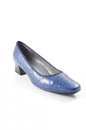 VA Milano Lackballerinas blau Punktemuster Elegant