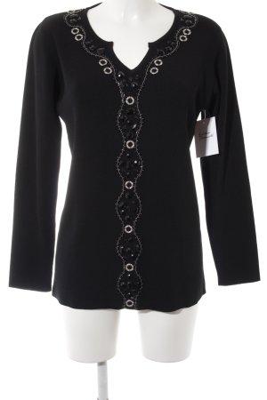 VA Milano Longsleeve schwarz Elegant