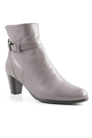 VA Milano Reißverschluss-Stiefeletten graubraun Casual-Look