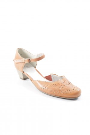 VA Milano Strapped pumps apricot flower pattern Aztec print