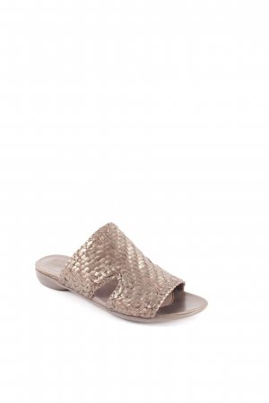 Vabeene Mules bronze-colored metallic look