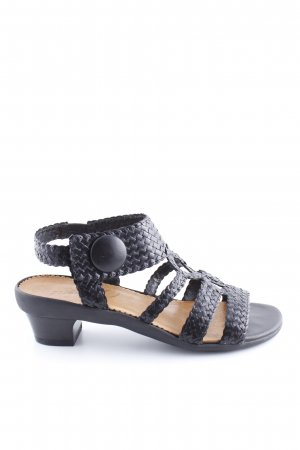 Vabeene Sandalias de tacón de tiras negro elegante
