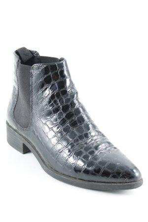 Vagabond Chelsea Boot noir motif animal imprimé animal