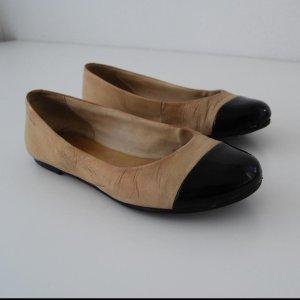 VAGABOND Damen Leder Ballerina Schuhe, Beige(Rosa)/Schwarz, Größe: 37