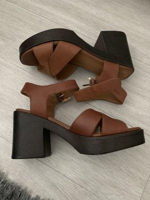 Vagabond Plateauzool sandalen bruin-cognac