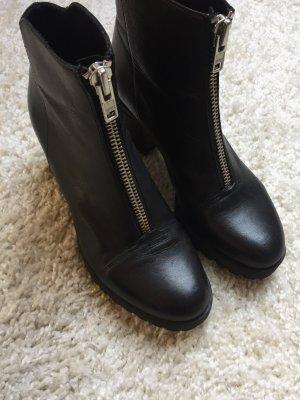 Vagabond Grace Zip Stiefeletten in Schwarz Silber