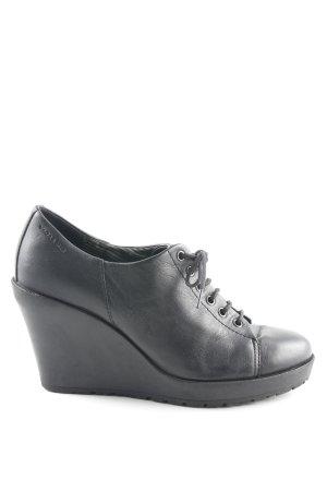 Vagabond Keil-Stiefeletten schwarz schlichter Stil