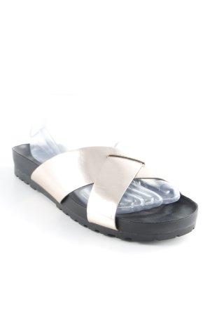 Vagabond Komfort-Sandalen schwarz-roségoldfarben Street-Fashion-Look