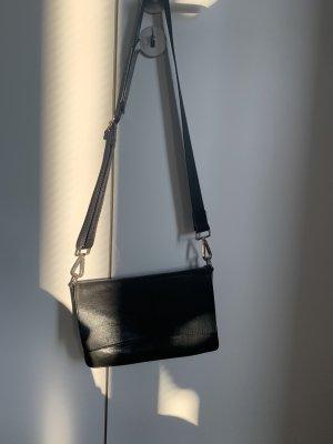 Vagabond Leder crossbody Bag Umhängetasche schwarz
